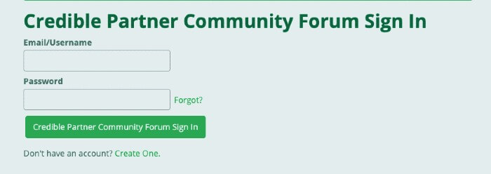 CredibleBH-Forum-Login